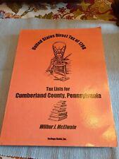 1798 CUMBERLAND COUNTY,  PENNSYLVANIA Direct Tax Lists (Genealogy, family)