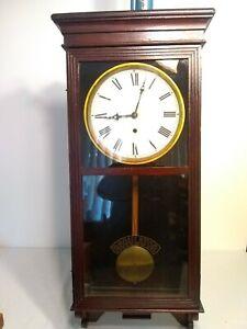 EN WELCH  SESSIONS REGULATOR ANTIQUE CLOCK CIRCA 1917