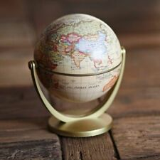 Vintage English Edition Globe World Map Earth Globes with Base Geography Decor