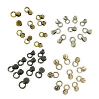 10pcs Sam Brown Browne Buttons Screwback Round Head Ball Post Studs Nail Rivets Leather Craft Hardware Accessories 100% Original Garment Rivets Arts,crafts & Sewing