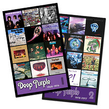 """DEEP PURPLE twin pack discography magnet set (two 3.5"""" x 4.5 discography magnets"""