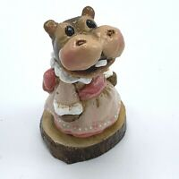 Wee Forest Folk Miniature Figurine Miss Hippo H 1s Forget Me Nots Series