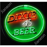 RARE New Dixie 45 BEER PUB STORE light backing Real Glass Neon Sign Light