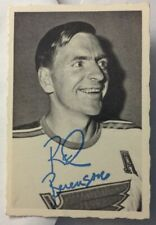 *AUTOGRAPHED* (on Back) RED BERENSON 1970-71 OPC #25 DECKLE EDGE HOCKEY ~ *VG+*