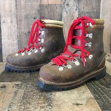 KASTINGER Vtg Austria Leather Brown Mountain Hiking Boots Mens 10.5