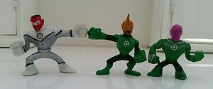 DC Superhero Squad Green Lantern Abin Sur, White Lantern Sinestro, Tomar-Re Mini