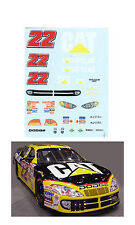 #22 Ward Burton 2002 Cat Dodge 1/64 scale decal fits AFX Tyco Lifelike Autoworld