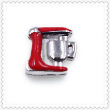 10pcs Coffe Machine Floating Charms For Glass Living Memory Locket  FC1675