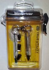 True Utility Mini Screwdriver Keychain in Dry box, Great Stocking Stuffer #TU231