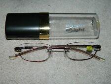 Insight Edge Glow Reading Glasses +1.00 Ruby 58 mm w/ hard case NEW ..