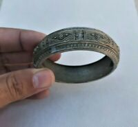 Extremely Ancient Viking Old Bracelet Color Silver Artifact Authentic Rare Type