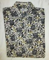 Campia Moda Men's Hawaiian Shirt Black Size Large Cotton