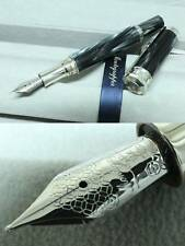 "Montegrappa ""EMOZIONE"" Fountain Pen, NIB: 18k Gold/M, 925Silver Black MSRP1375$"