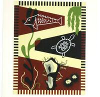 Projet Tapisserie Graphisme A.G.I. Modernisme 1950 GOUACHE Proche PICART LEDOUX