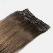 "20"" Human Hair 16Clips In Extensions 100g Brown,#6"
