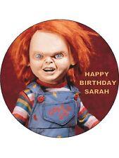 7.5 HORROR CHUCKY EDIBLE ICING BIRTHDAY CAKE TOPPER