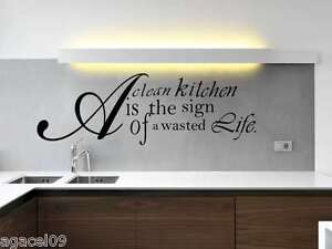 KITCHEN DINNING WALL QUOTE VINYL  STCKER ART  DECAL STENCIL MURAL GRAPHIC SAYING