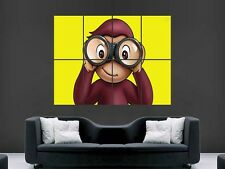 CURIOUS GEORGE ART POSTER KIDS ROOM A4 A3 CG01 BUY 2 GET 1 FREE!