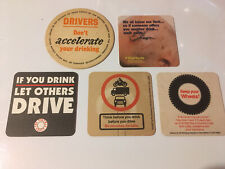 5 x Anti Drink Driving Beer Mats (4.1)