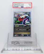 Pokemon GREAT ENCOUNTERS DARKRAI LV X #104/106 HOLO FOIL CARD PSA 7 NM #*