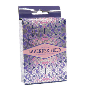 Lavender Field Incense Cones Home Fragrances Aroma Scent Relaxing Holder Plate I