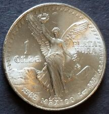 1985 Mexican Libertad One Ounce Silver Coin....Please view Pics and Description