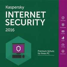 Kaspersky Internet Security 10 Geräte 2016 2017 - 1 -Jahr  WIN-MAC-Android / KEY