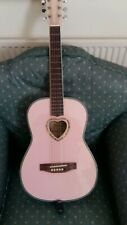 Girls Candy box pink guitar with tuner.