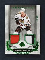 2018-19 UD Artifacts Materials Emerald Jersey #36 Jonathan Toews /65