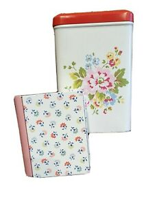 CATH KIDSTON two Storage boxes Tins please read shabby chic