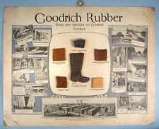 1930s B.F. Goodrich Rubber Salesman Sample Display Sign Hi-Press Footwear Tires