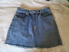 Levis denim skirt vintage vtg high waist 8 10 mid wash distressed  mini