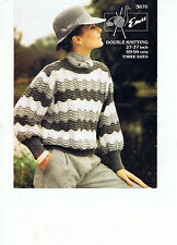 """EMU Lavoro a Maglia Donna Knitting pattern ragazze/signore maglione estate 27"""" - 37"""" DK"""