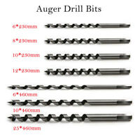 6 8 10 12 25MM AUGER DRILL BIT WOOD DRILLS BITS 230-460mm SHORT/LONG HEX SHANK