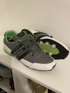 Y3 Sprint Trainers UK 12 Grey White Green