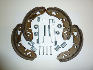 Classic Mini Rear Steel  Brake Shoes and Spring Fitting Kit 69-01 MK2,3