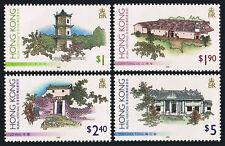 Hong Kong 720-23,MNH.Traditional Buildings.Sam Tung UK,Lo Wai,Man Shek Tong,1995