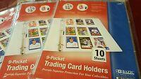 50 Sheets lot baseball trading cards holders