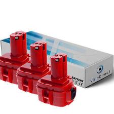 Lot de 3 batteries type 1234 pour Makita 3000mAh 12V - Société Française -