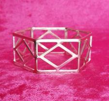 Metal Bangle Hexagon Fashion Bangle Thick Bangle