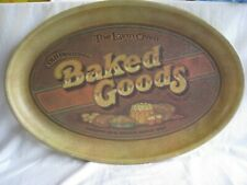 Vintage  metal baked goods platter by Pentron Industries Inc. 1970's retro