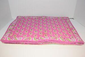 Set of 4 Vera Bradley Bermuda Pink HTF Washable Cotton Placemants!