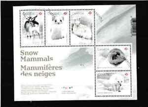 "#4068=Canada 2021 used souvenir sheet ""Snow Mammals"""
