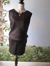 2b Rych Runway Women Brown Blouson Dress Size 4 New