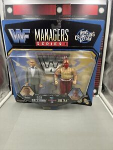 WWF WWE Jakks Pacific 1997 Managers Series 1 Bob Backlund And Sultan Vintage