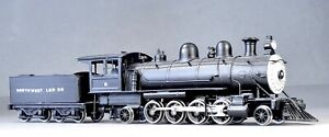 HO Brass 2-8-2 Logging Steam Locomotive, Painted, Northwest Lumber Co., Rare