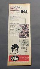 PUB PUBLICITE ANCIENNE ADVERT CLIPPING 60617 POUR LA FETE UNE PENDULE A PILE ODO