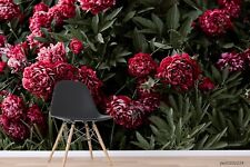 New Listing3D Red Peony Floral Wallpaper Wall Murals Removable Wallpaper