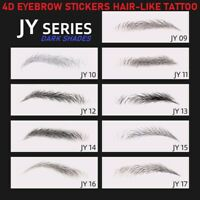 4D Hair-like Stick-On BROWN Eyebrows Stickers Waterproof Eyebrow Tattoo Sticker