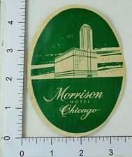 Poster Stamp Luggage Label Vintage Morrison Hotel Chicago E5